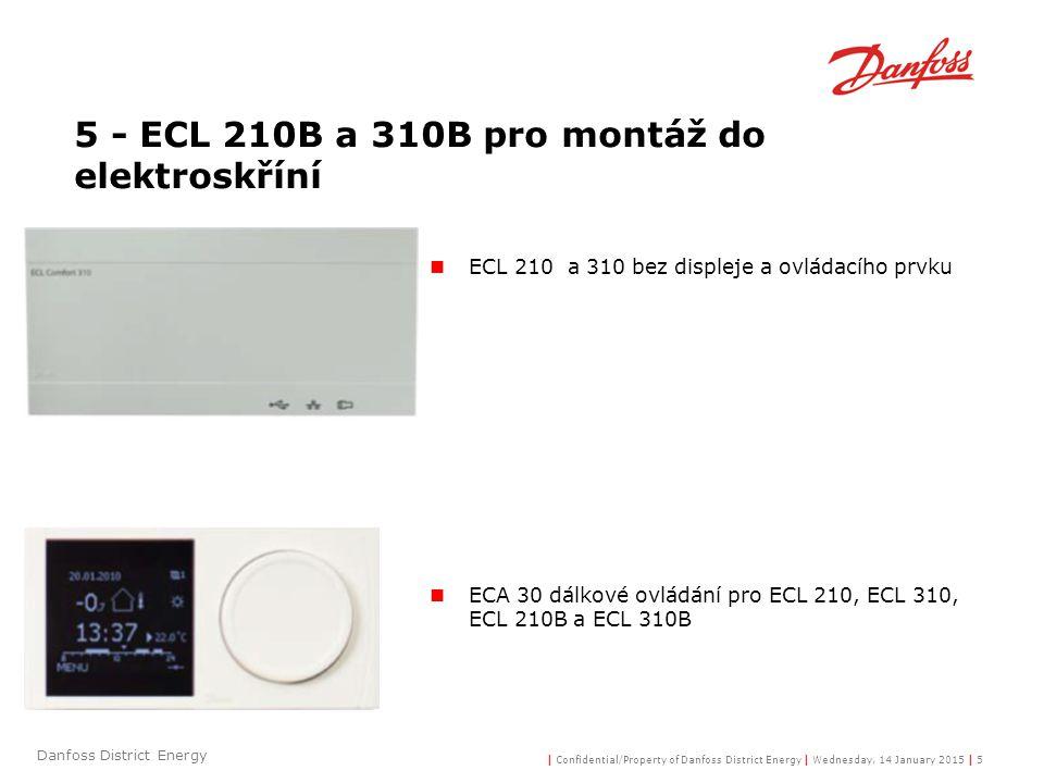 5 - ECL 210B a 310B pro montáž do elektroskříní
