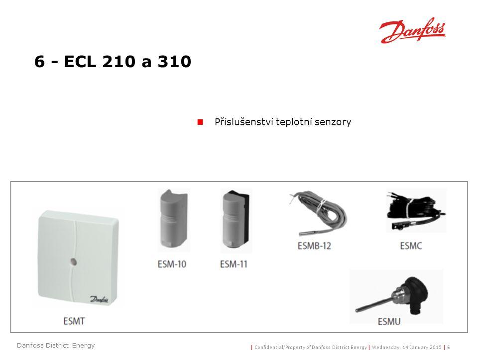 6 - ECL 210 a 310 Příslušenství teplotní senzory