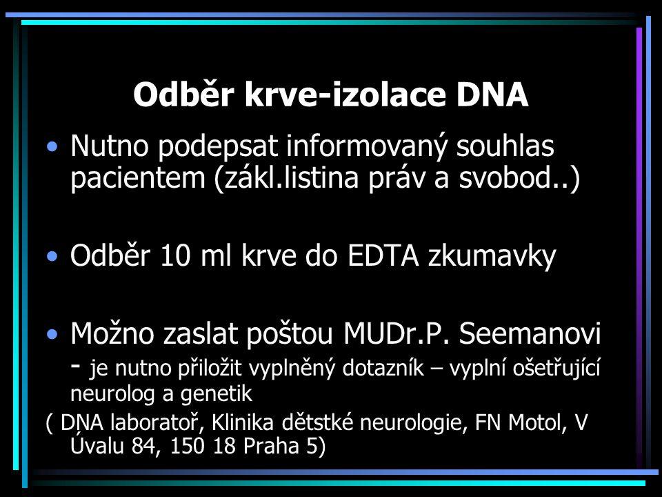 Odběr krve-izolace DNA