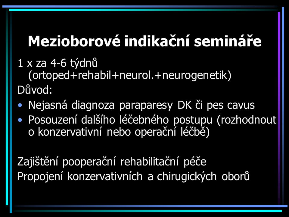 Mezioborové indikační semináře