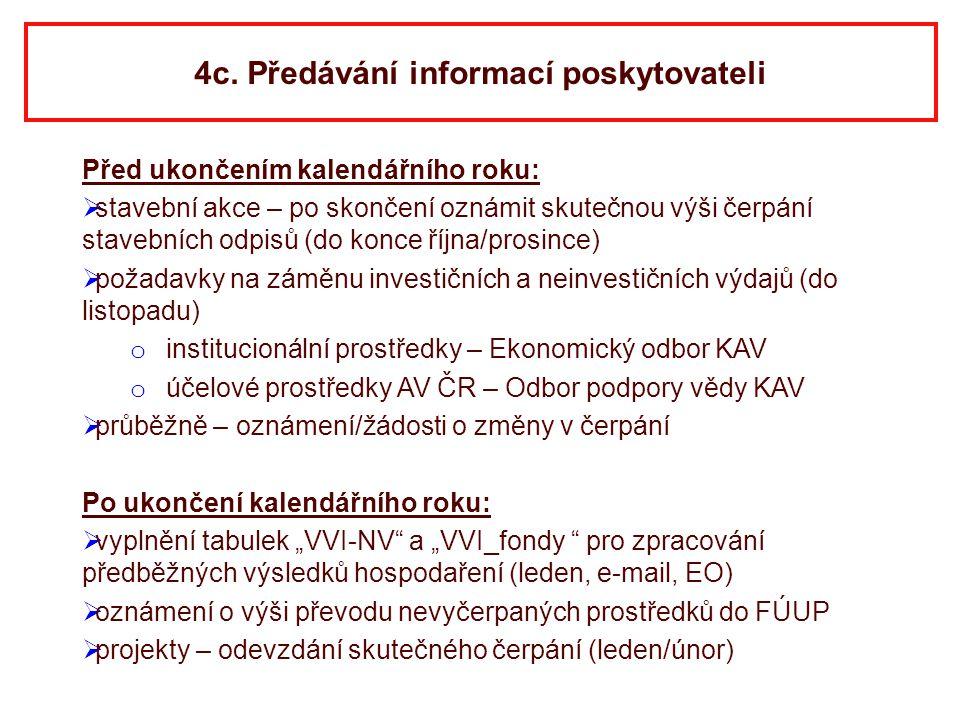 4c. Předávání informací poskytovateli