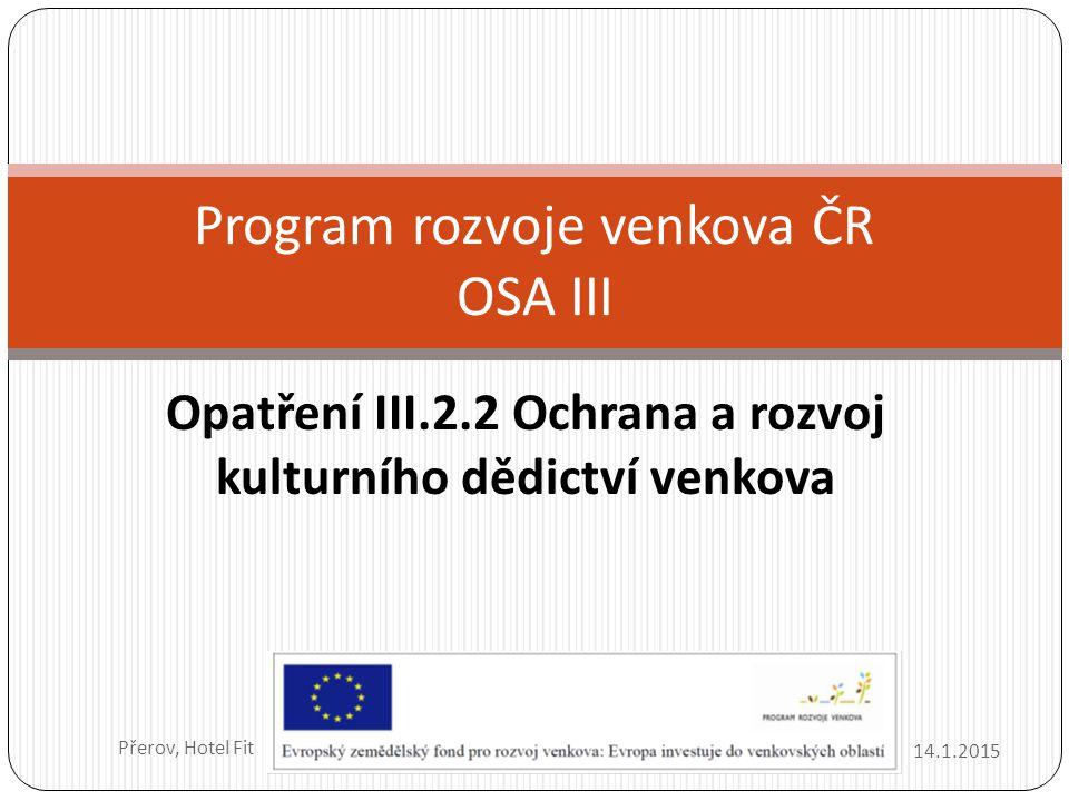 Program rozvoje venkova ČR OSA III