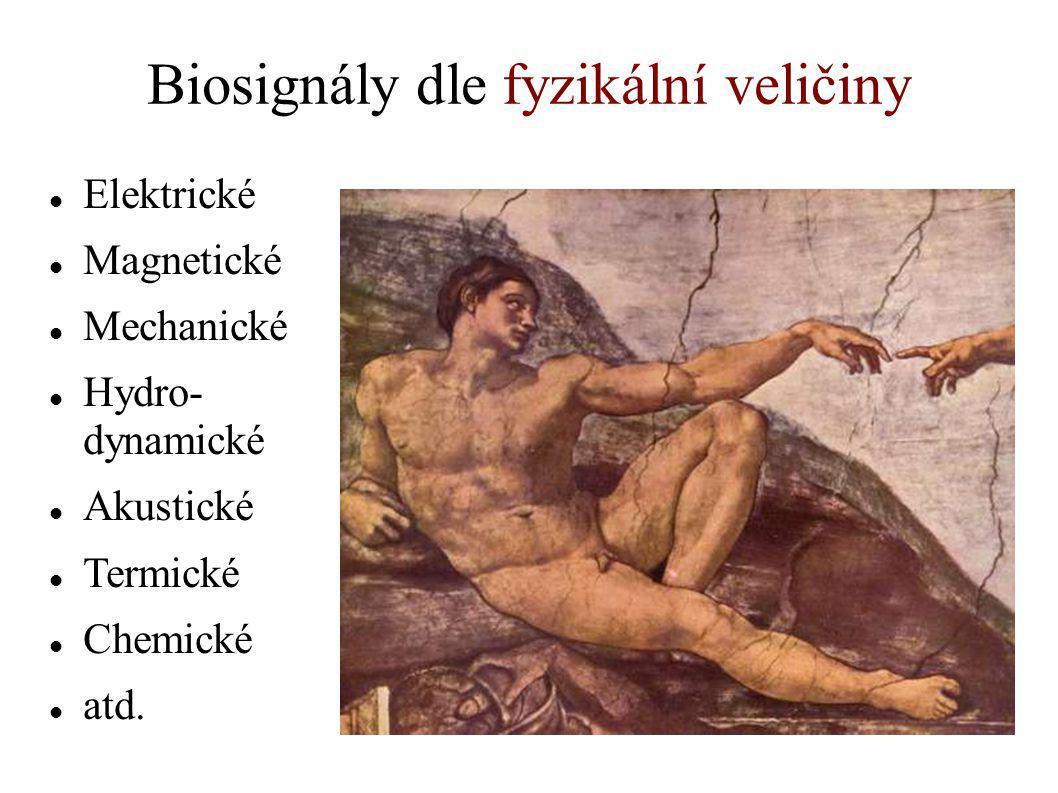 Biosignály dle fyzikální veličiny