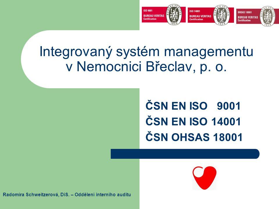 Integrovaný systém managementu v Nemocnici Břeclav, p. o.