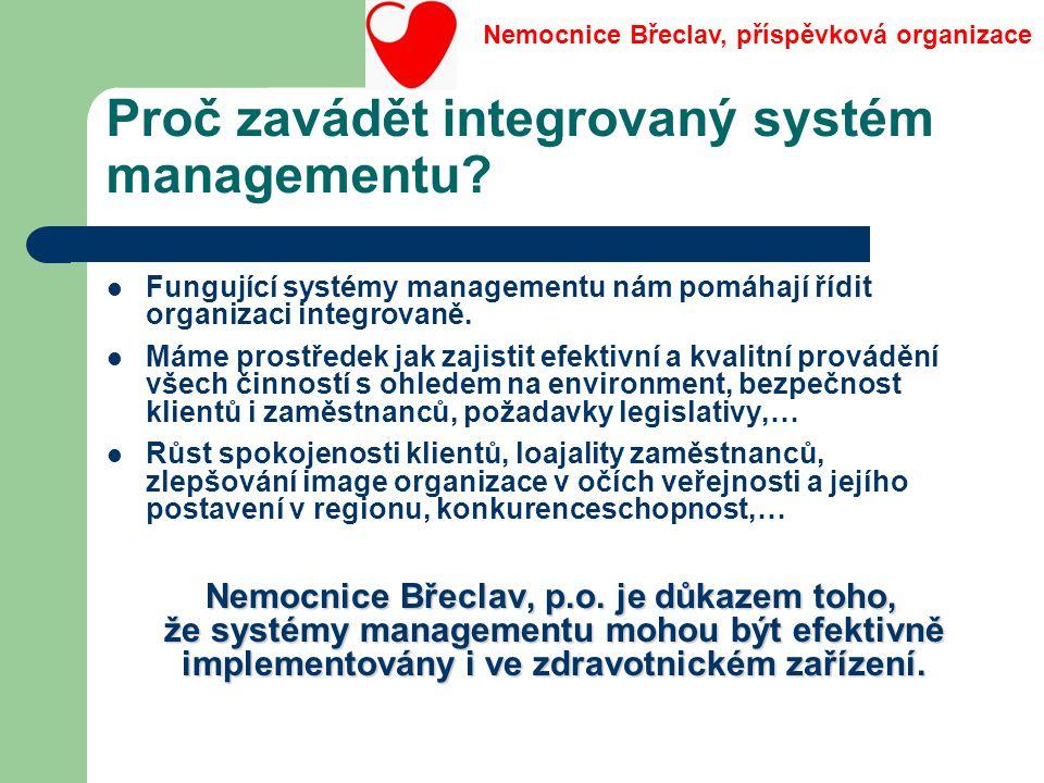 Proč zavádět integrovaný systém managementu