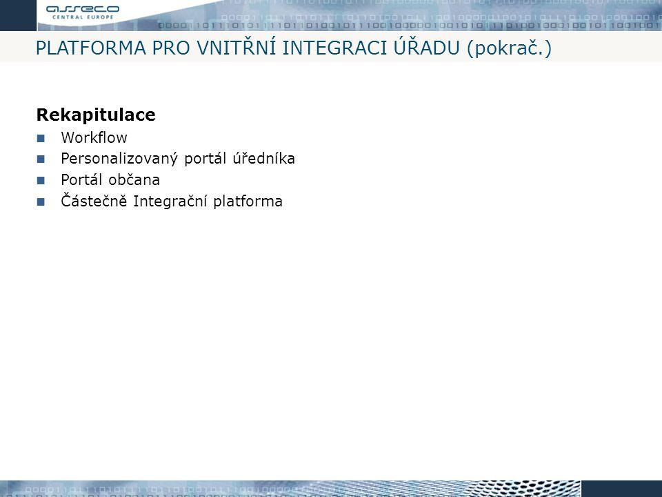 Platforma pro vnitřní integraci úřadu (pokrač.)
