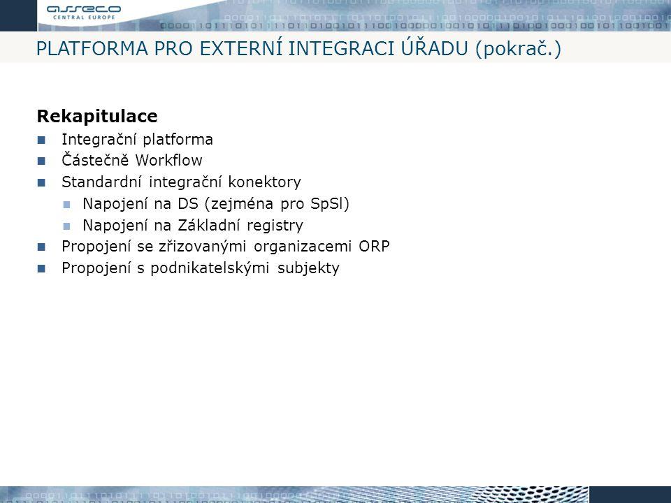 Platforma pro externí integraci úřadu (pokrač.)