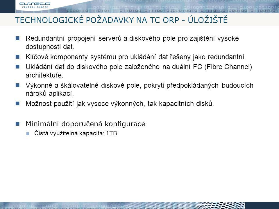 Technologické požadavky na TC ORP - Úložiště