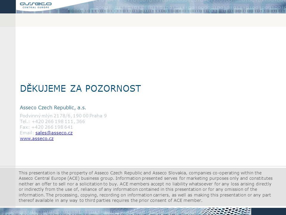 děkujeme za pozornost Asseco Czech Republic, a.s.