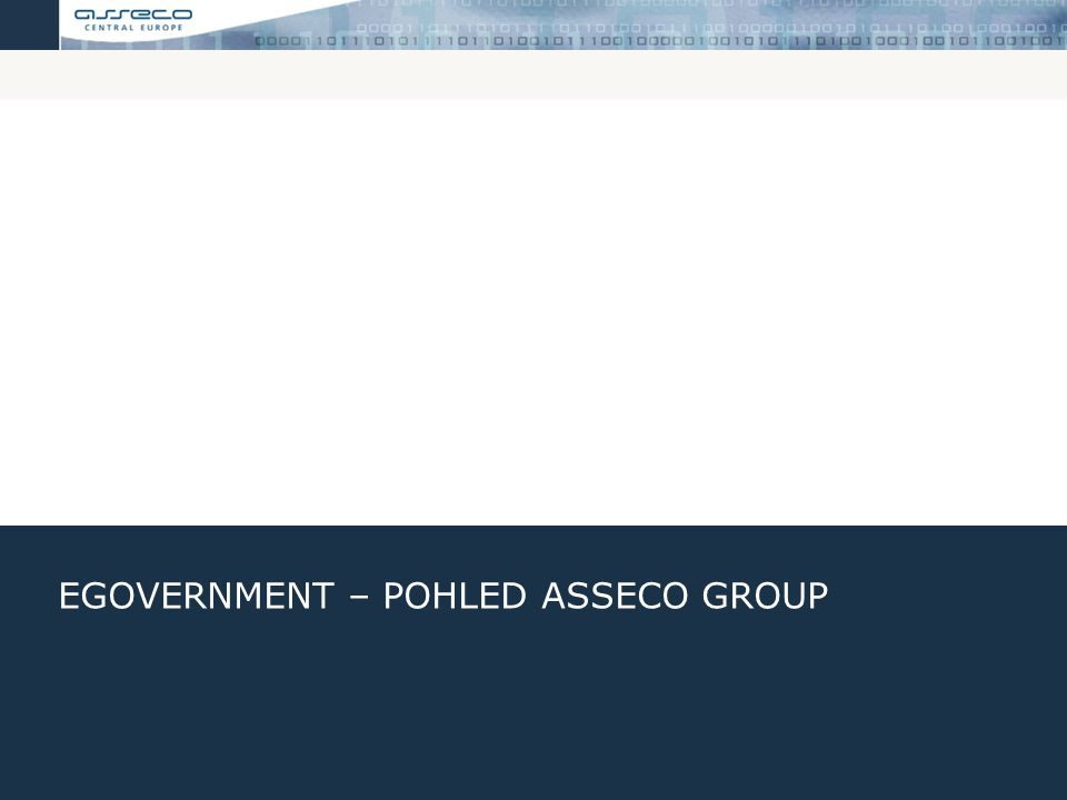 eGovernment – Pohled Asseco GROUP