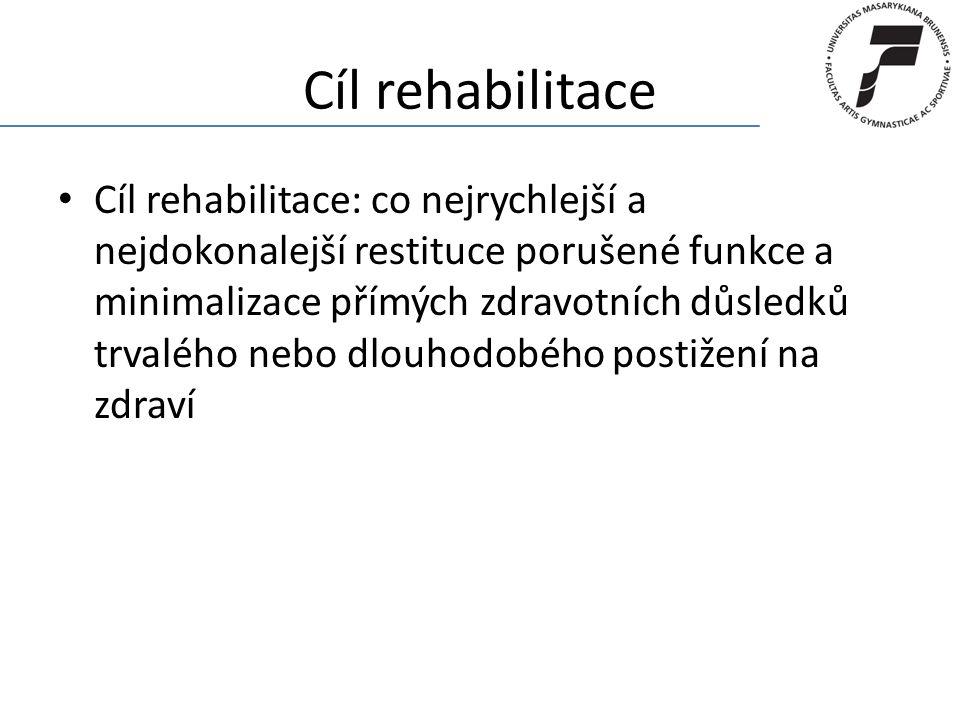 Cíl rehabilitace
