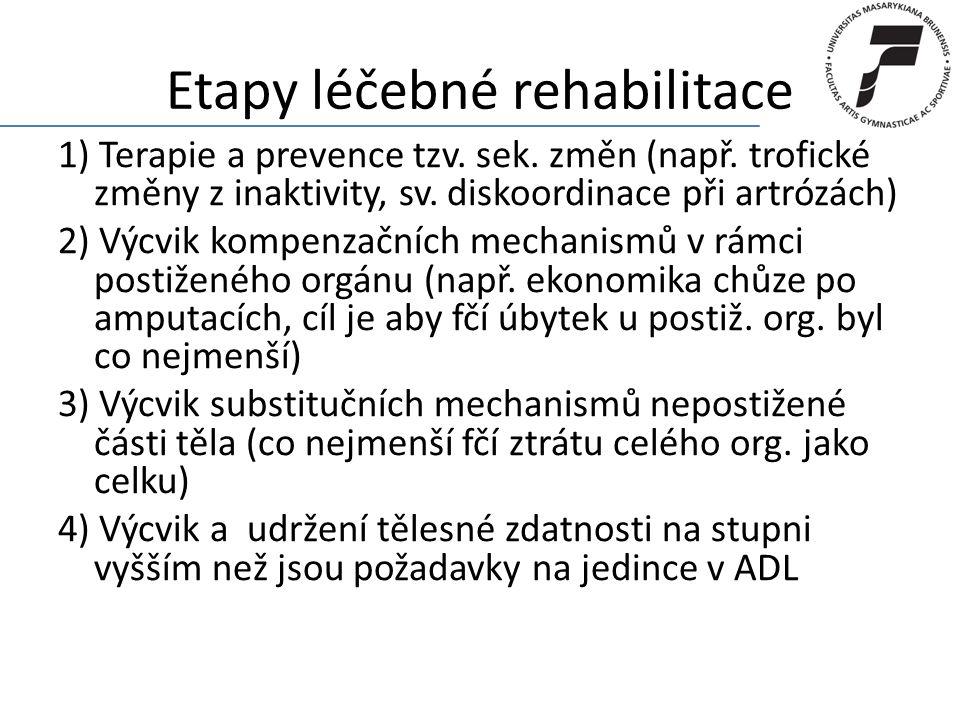 Etapy léčebné rehabilitace
