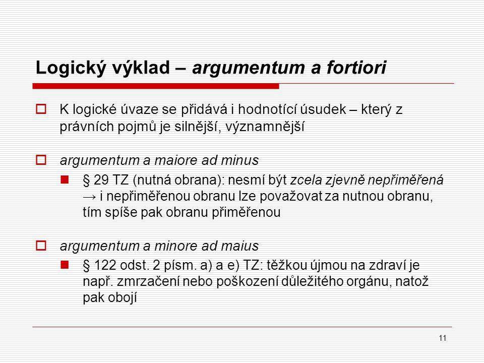 Logický výklad – argumentum a fortiori