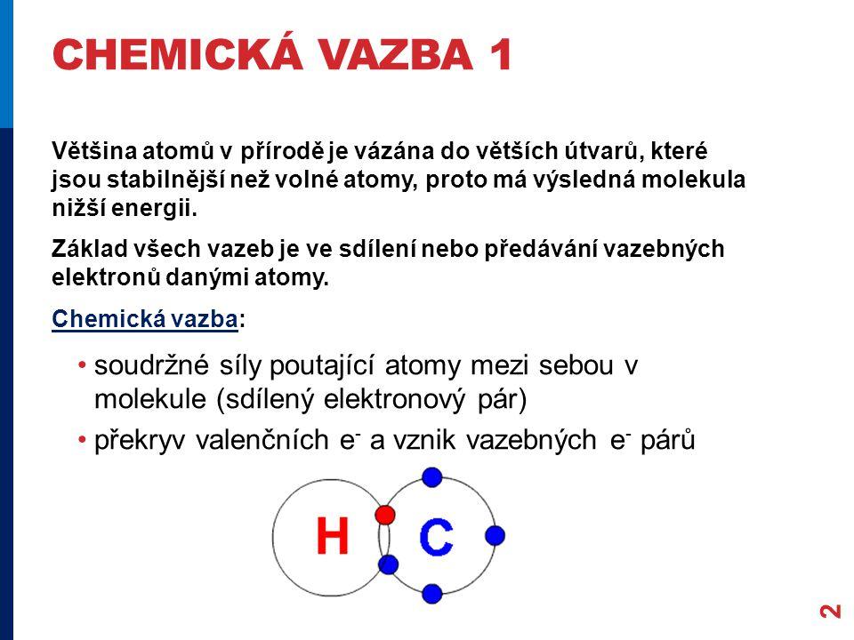 Chemická vazba 1