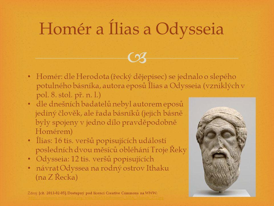 Homér a Ílias a Odysseia