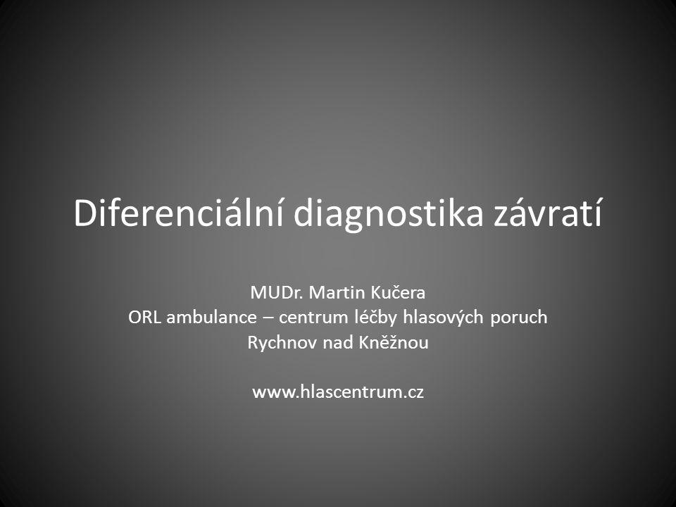 Diferenciální diagnostika závratí