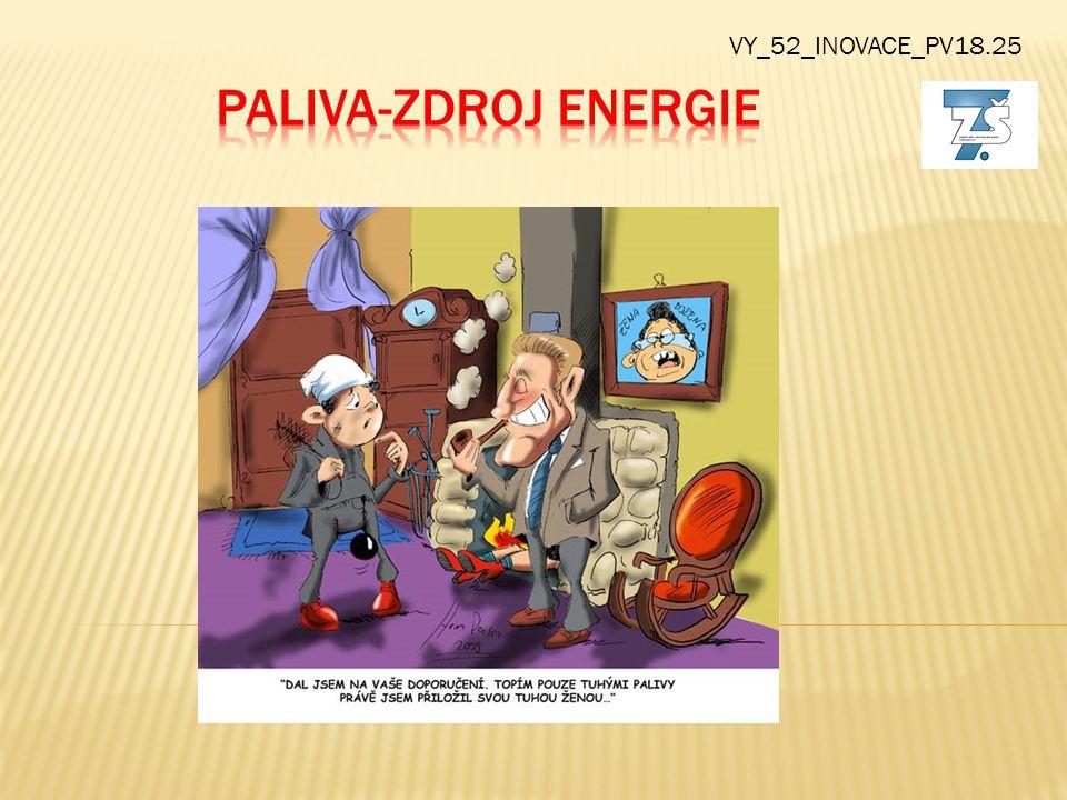 VY_52_INOVACE_PV18.25 Paliva-zdroj energie