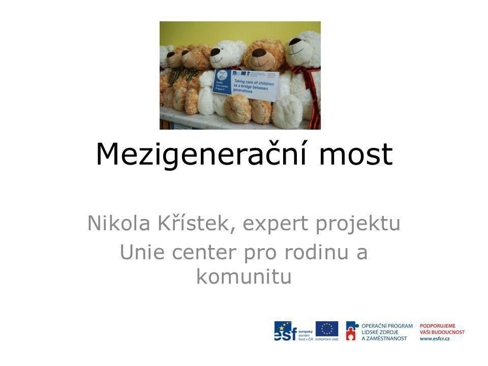 Nikola Křístek, expert projektu Unie center pro rodinu a komunitu