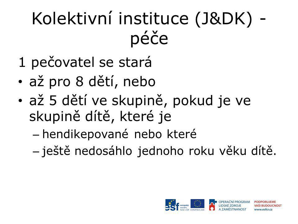 Kolektivní instituce (J&DK) - péče