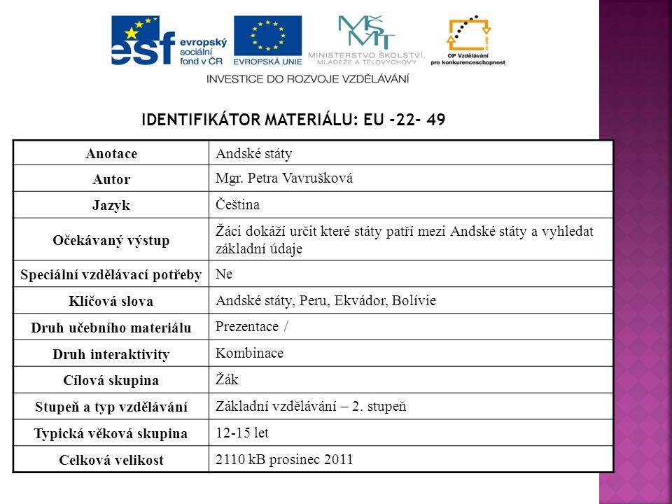 Identifikátor materiálu: EU -22- 49