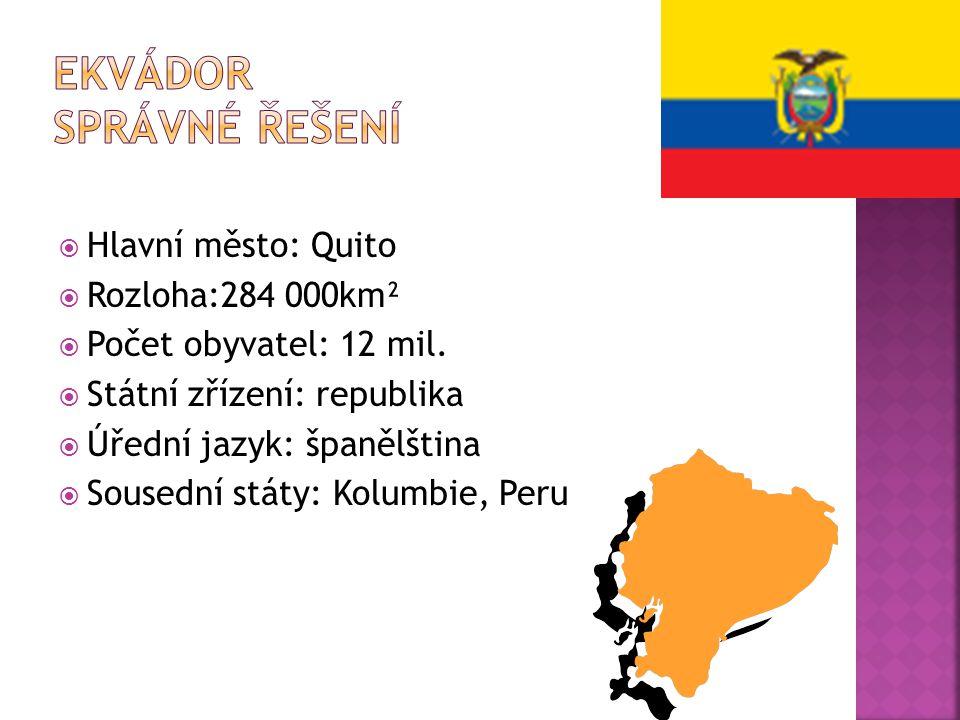 Ekvádor správné řešení