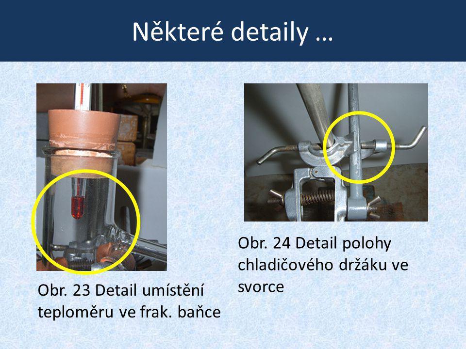 Některé detaily … Obr. 24 Detail polohy chladičového držáku ve svorce