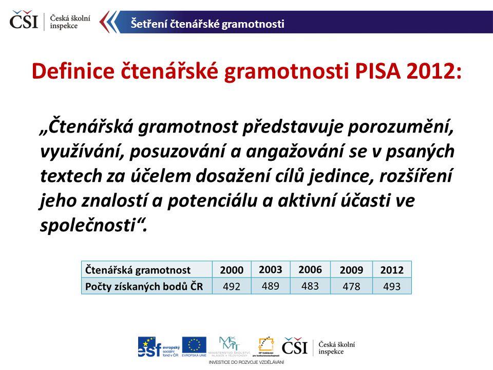 Definice čtenářské gramotnosti PISA 2012: