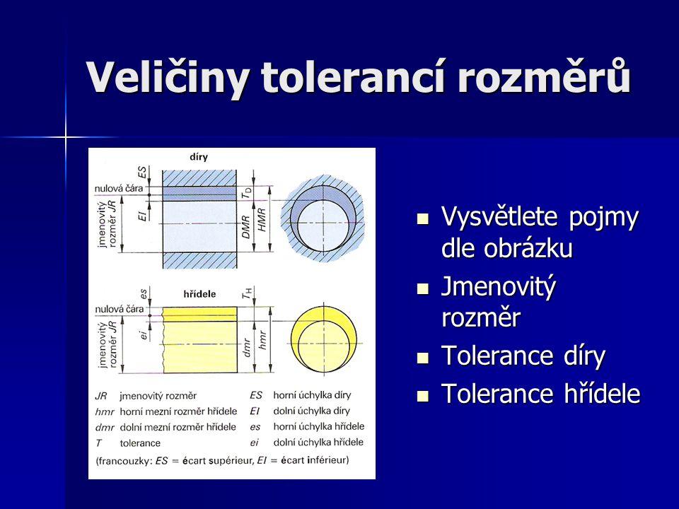 Veličiny tolerancí rozměrů