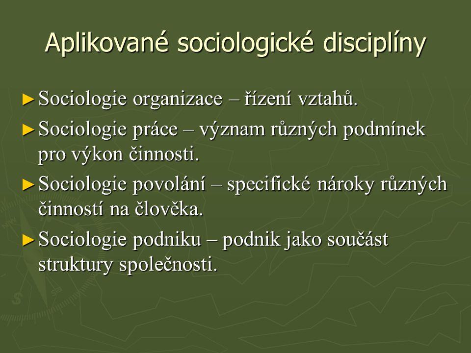Aplikované sociologické disciplíny