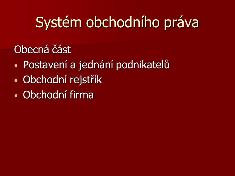 Systém obchodního práva