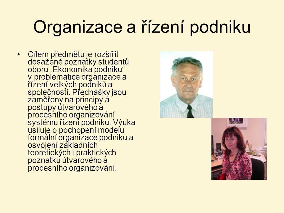 Organizace a řízení podniku
