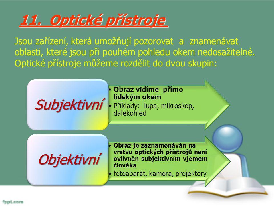 11. Optické přístroje Subjektivní Objektivní