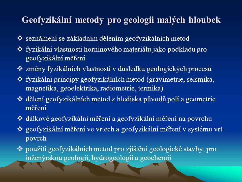 Geofyzikální metody pro geologii malých hloubek