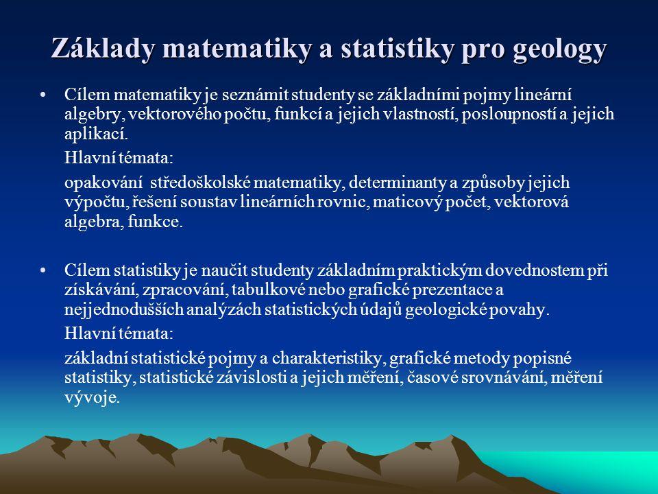 Základy matematiky a statistiky pro geology