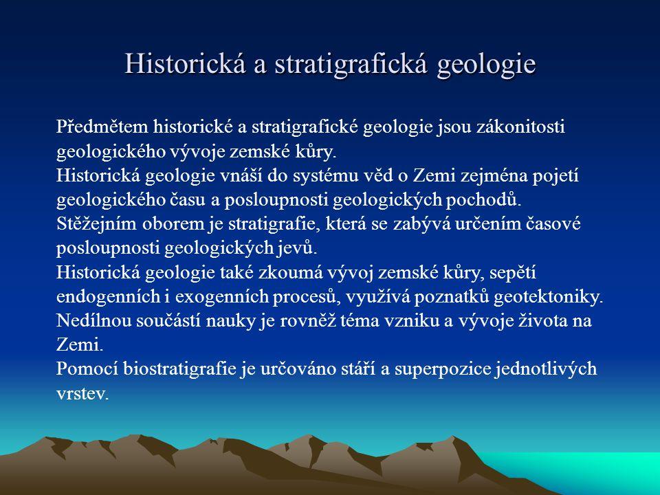 Historická a stratigrafická geologie