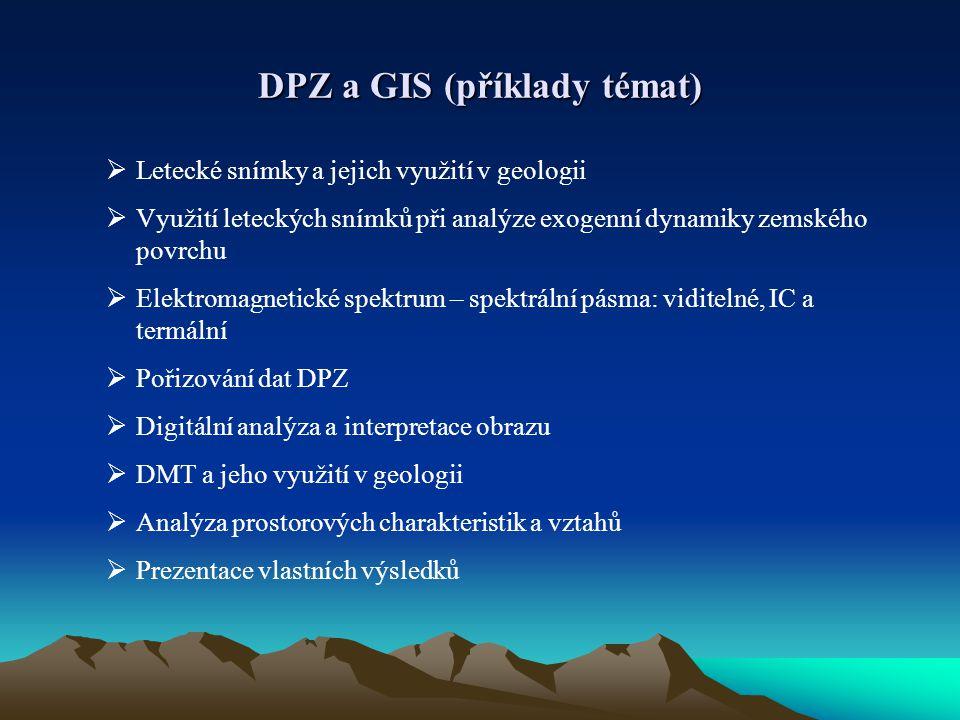 DPZ a GIS (příklady témat)