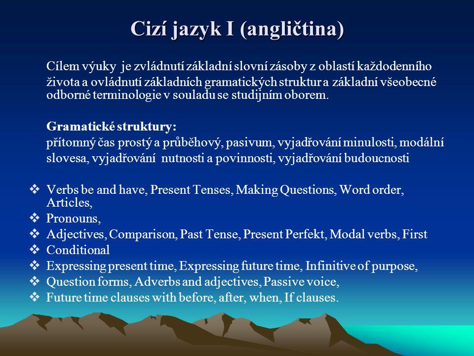 Cizí jazyk I (angličtina)