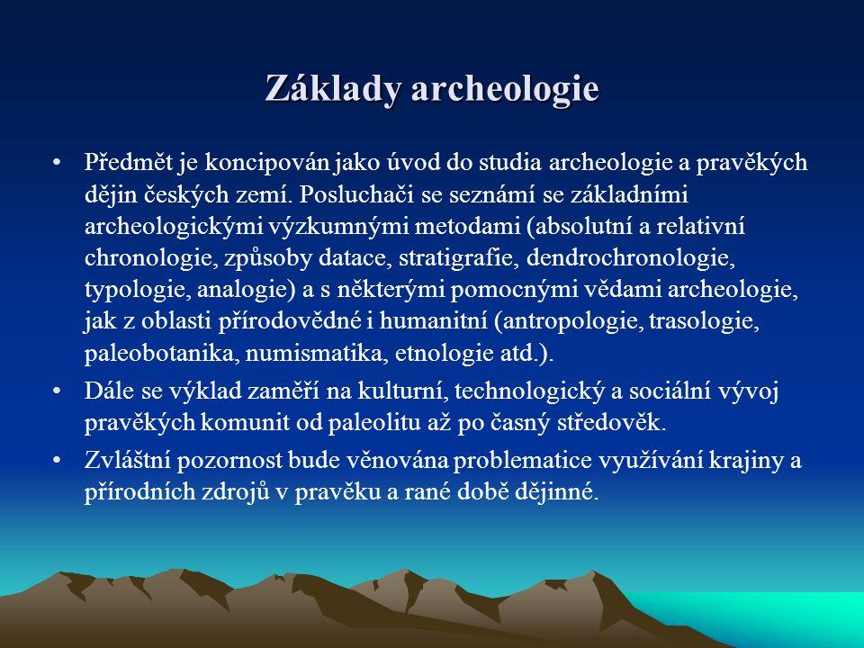 Základy archeologie