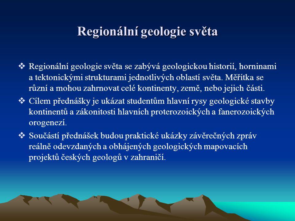 Regionální geologie světa