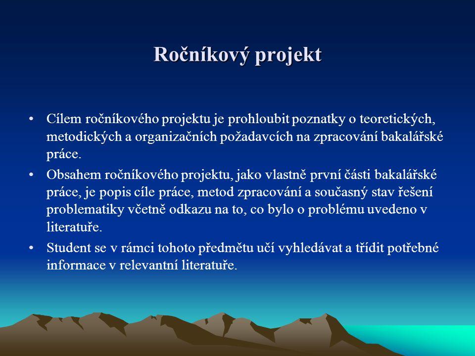 Ročníkový projekt