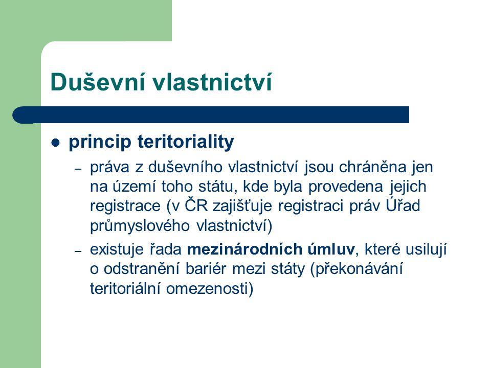 Duševní vlastnictví princip teritoriality