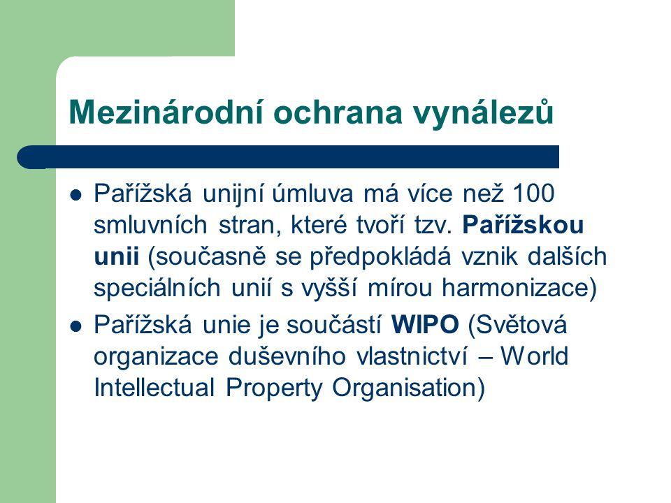 Mezinárodní ochrana vynálezů