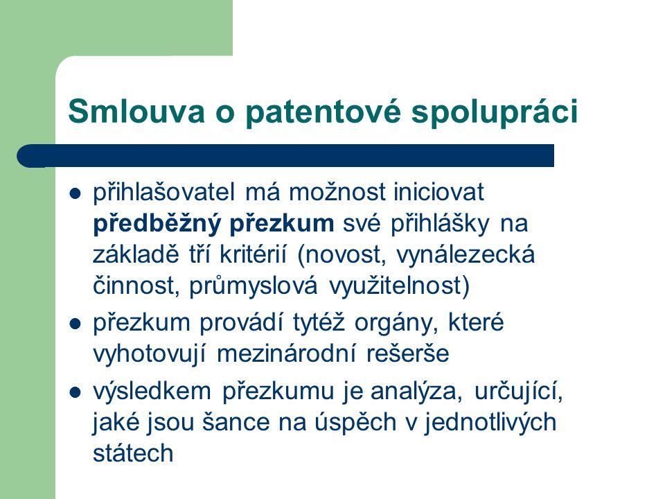 Smlouva o patentové spolupráci
