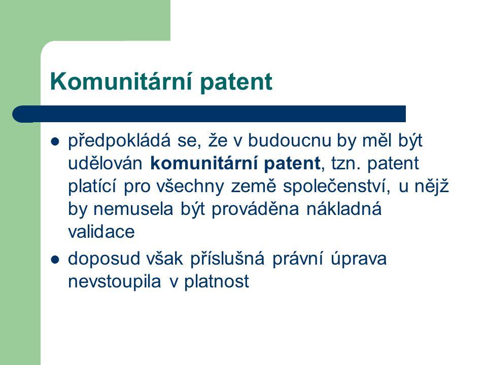 Komunitární patent