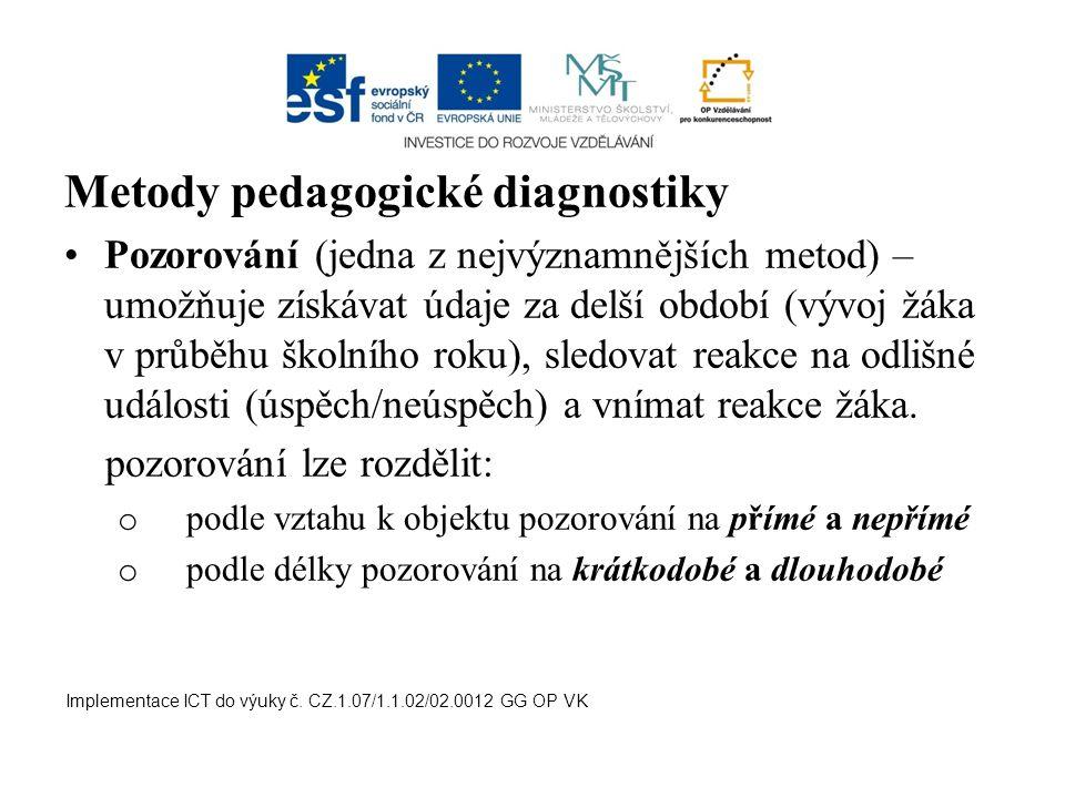 Metody pedagogické diagnostiky