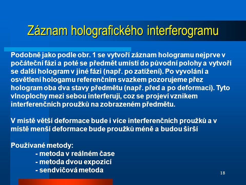 Záznam holografického interferogramu