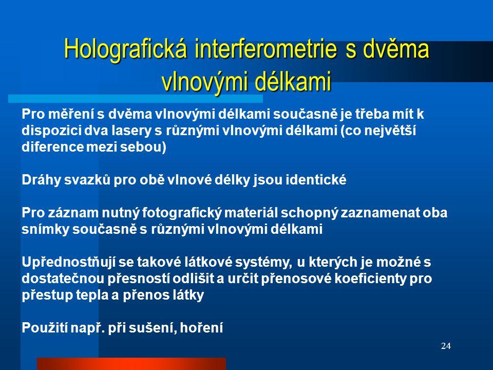 Holografická interferometrie s dvěma vlnovými délkami