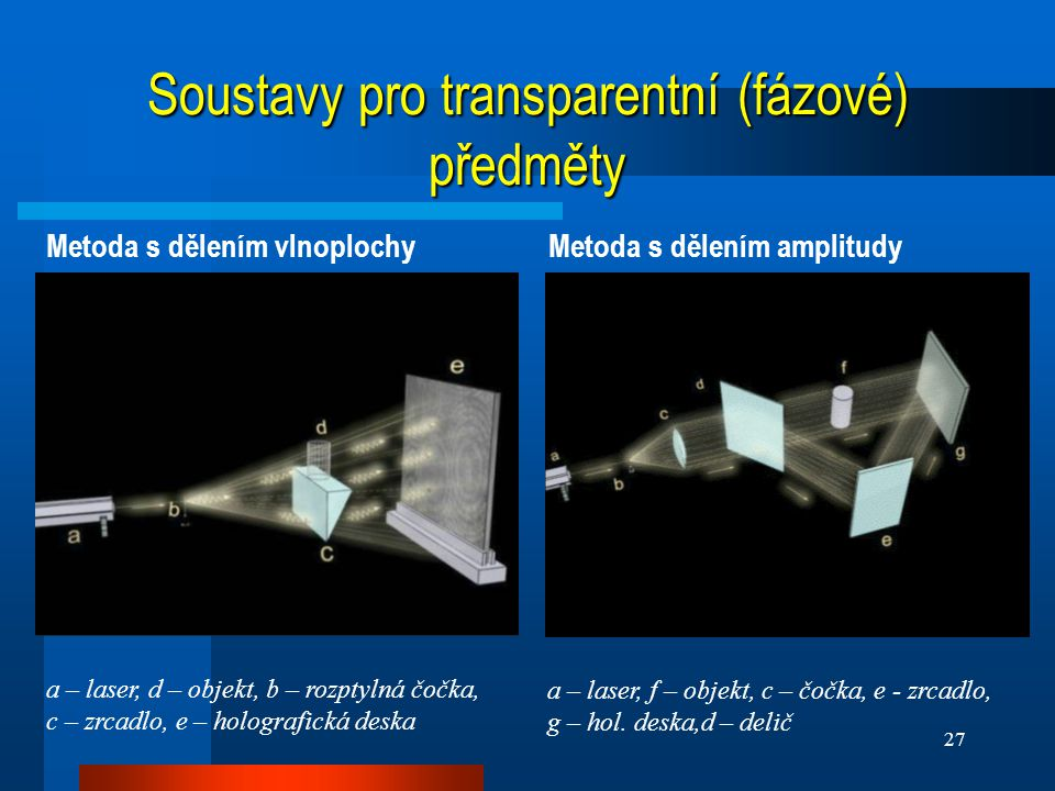 Soustavy pro transparentní (fázové) předměty