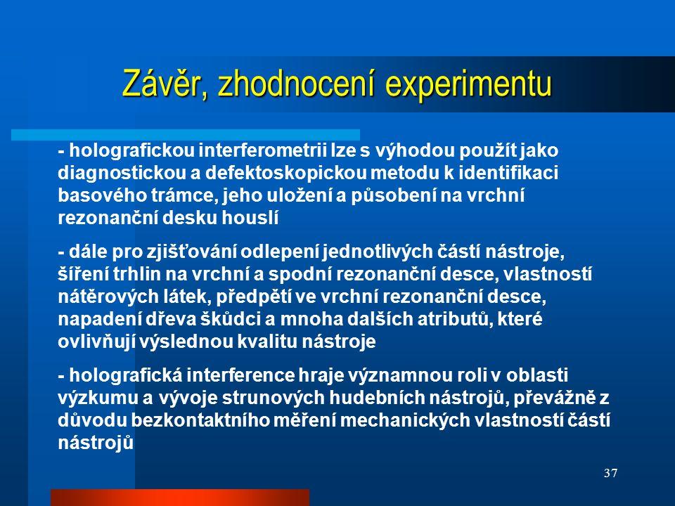 Závěr, zhodnocení experimentu