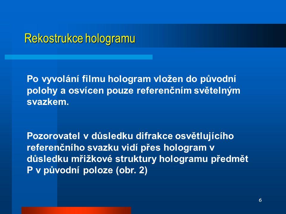 Rekostrukce hologramu